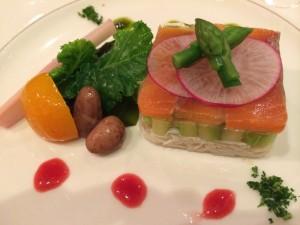 紫波産うずら豆(ボルロッティ)を使用した前菜