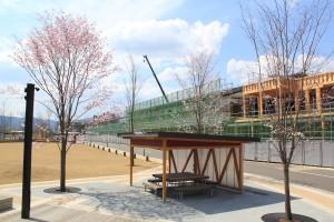 建設中のオガールベース