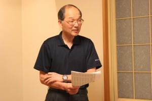 新年度の事業計画について説明する代表の佐々木