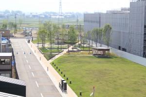 オガール西広場とオガール大通公園